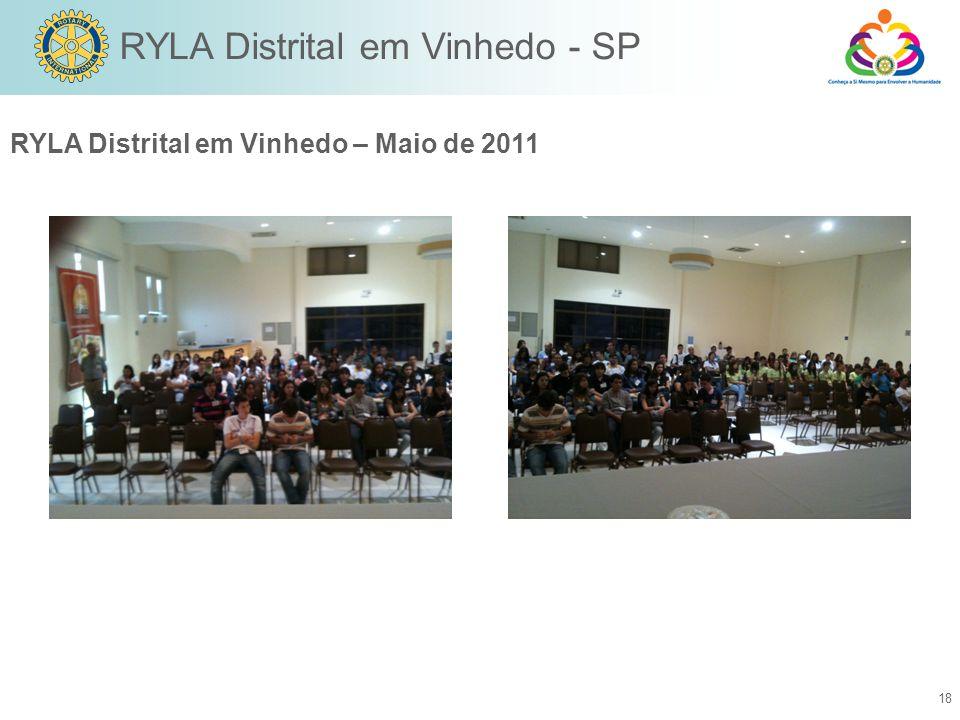 18 RYLA Distrital em Vinhedo - SP RYLA Distrital em Vinhedo – Maio de 2011