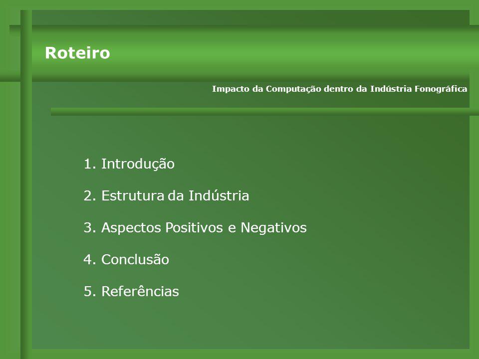 1.Introdução 2. Estrutura da Indústria 3. Aspectos Positivos e Negativos 4.
