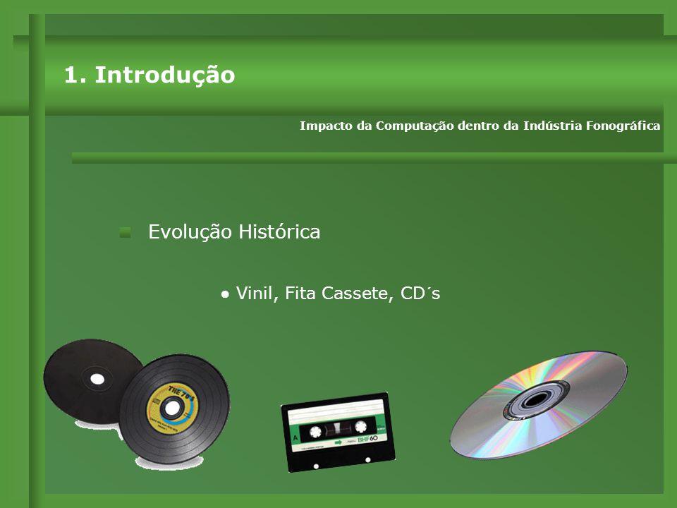 ● Vinil, Fita Cassete, CD´s Evolução Histórica Impacto da Computação dentro da Indústria Fonográfica 1.