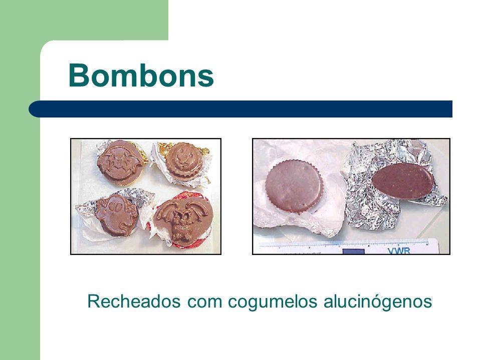 Bombons Recheados com cogumelos alucinógenos