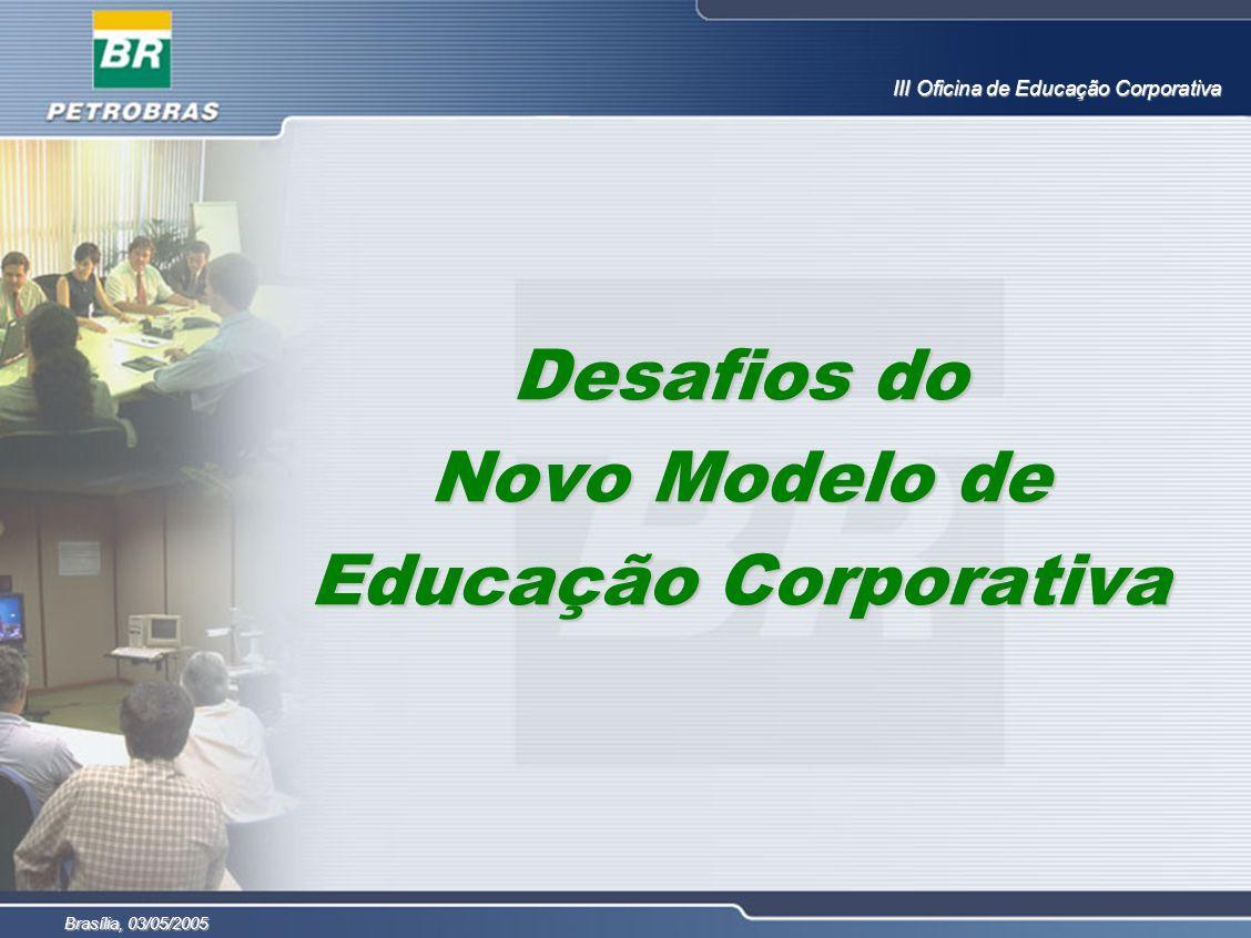 Desafios do Novo Modelo de Educação Corporativa III Oficina de Educação Corporativa Brasília, 03/05/2005