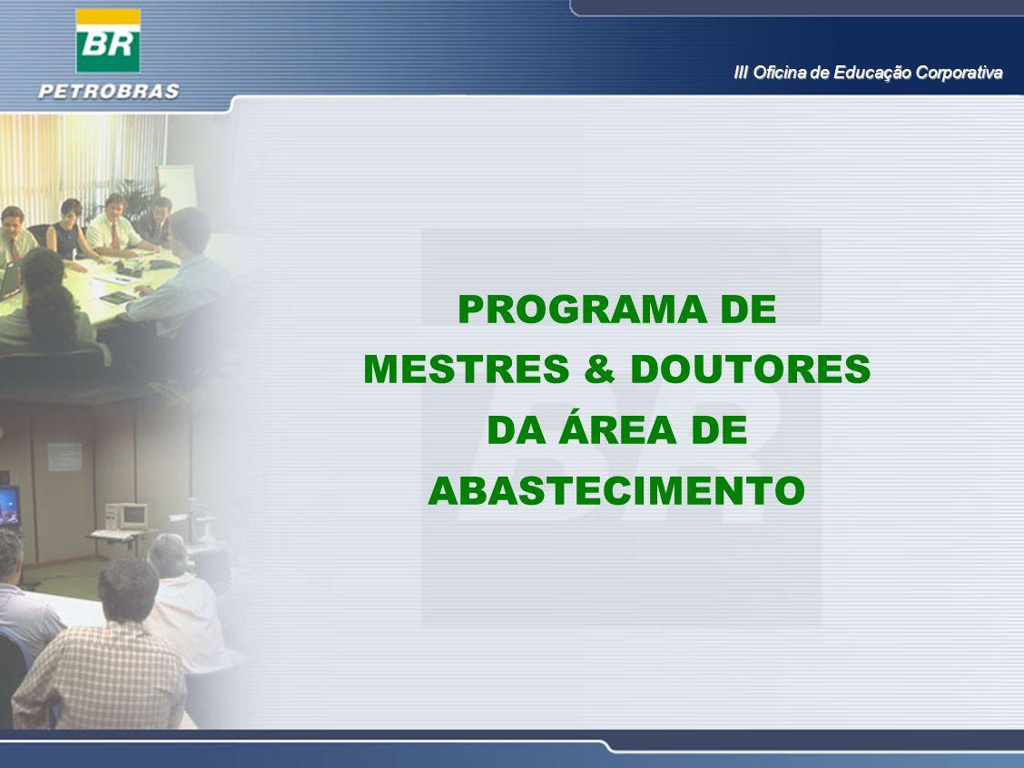PROGRAMA DE MESTRES & DOUTORES DA ÁREA DE ABASTECIMENTO III Oficina de Educação Corporativa