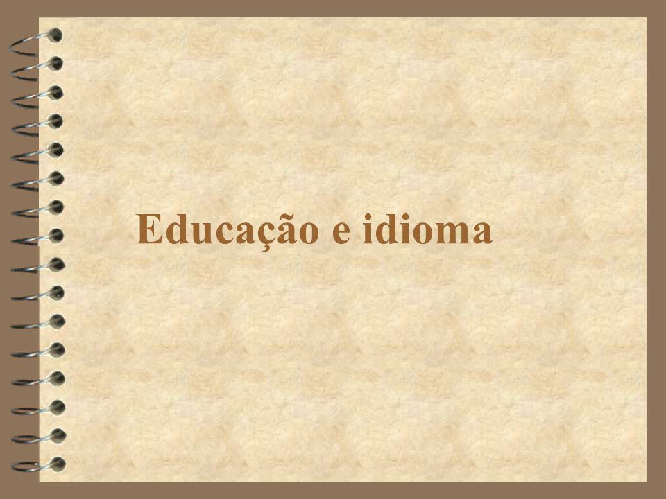 Educação e idioma