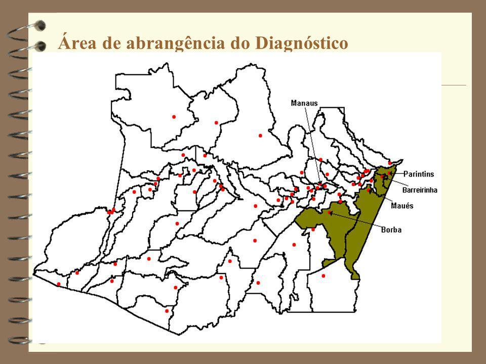 Área de abrangência do Diagnóstico
