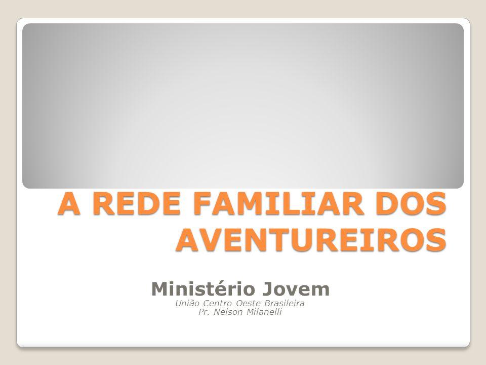 A REDE FAMILIAR DOS AVENTUREIROS Ministério Jovem União Centro Oeste Brasileira Pr.