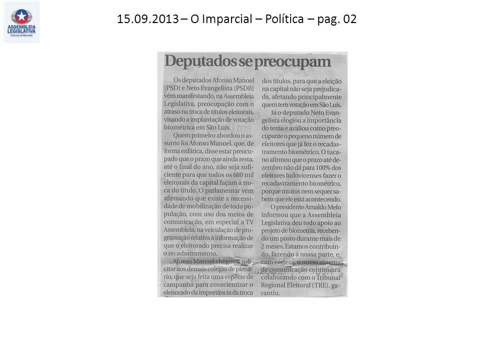 15.09.2013 – O Imparcial – Política – pag. 02