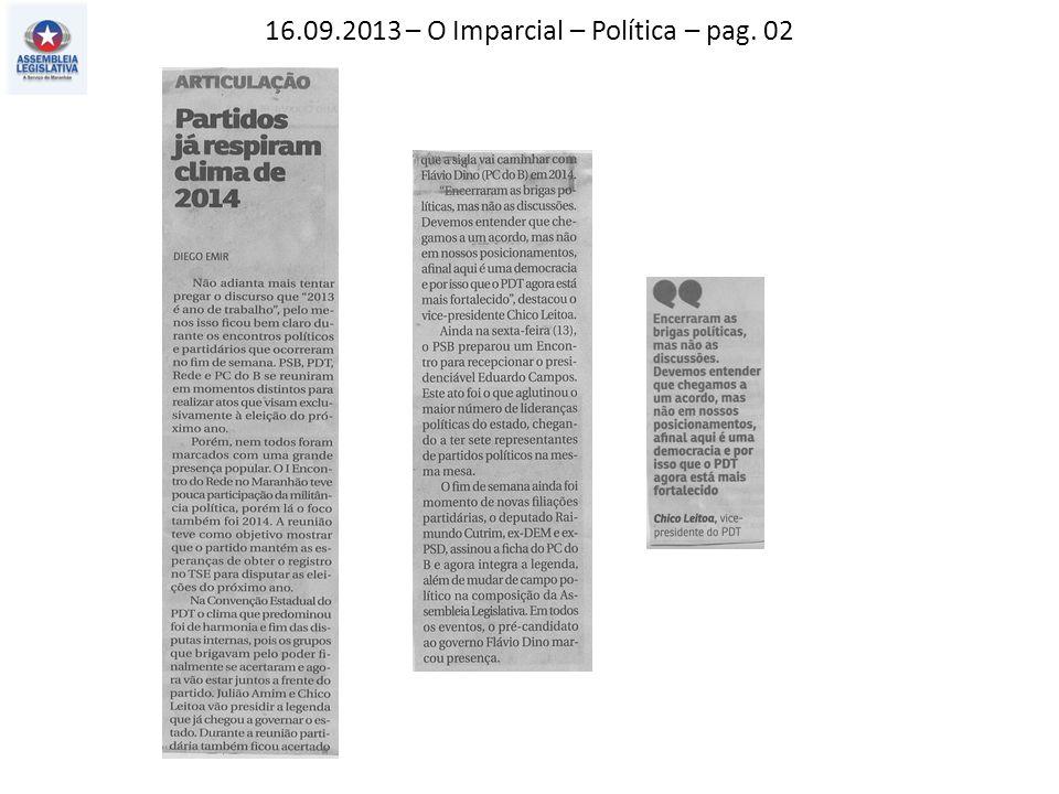 16.09.2013 – O Imparcial – Política – pag. 02