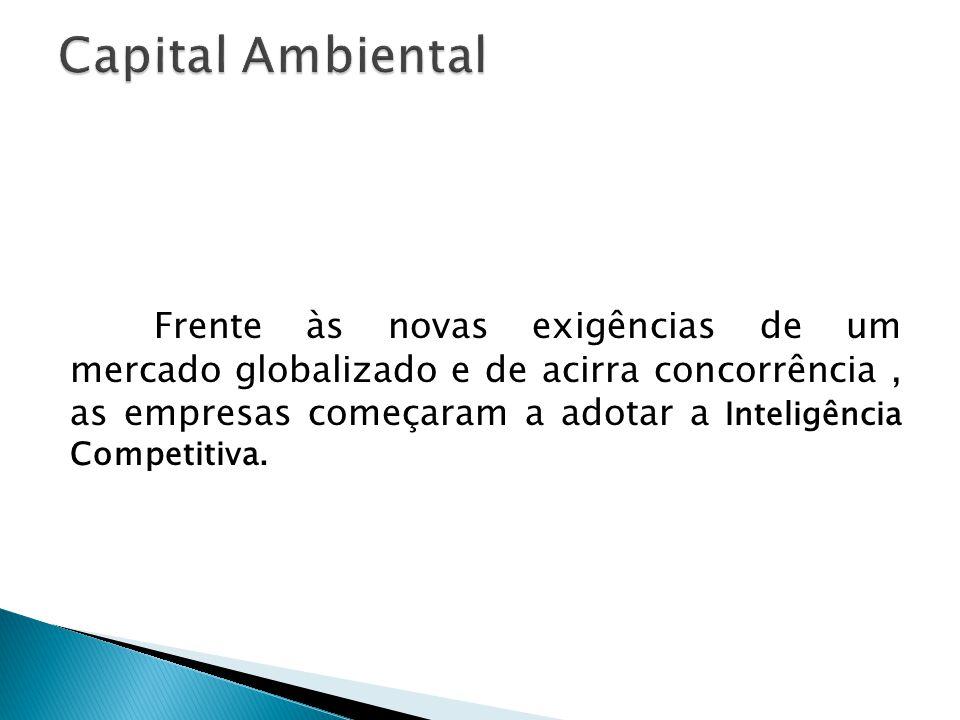 Frente às novas exigências de um mercado globalizado e de acirra concorrência, as empresas começaram a adotar a Inteligência Competitiva.