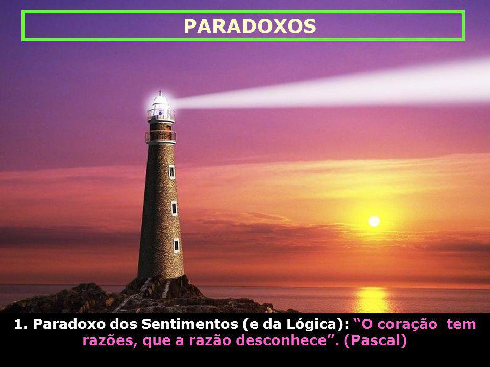 1.Paradoxo dos Sentimentos (e da Lógica): O coração tem razões, que a razão desconhece .