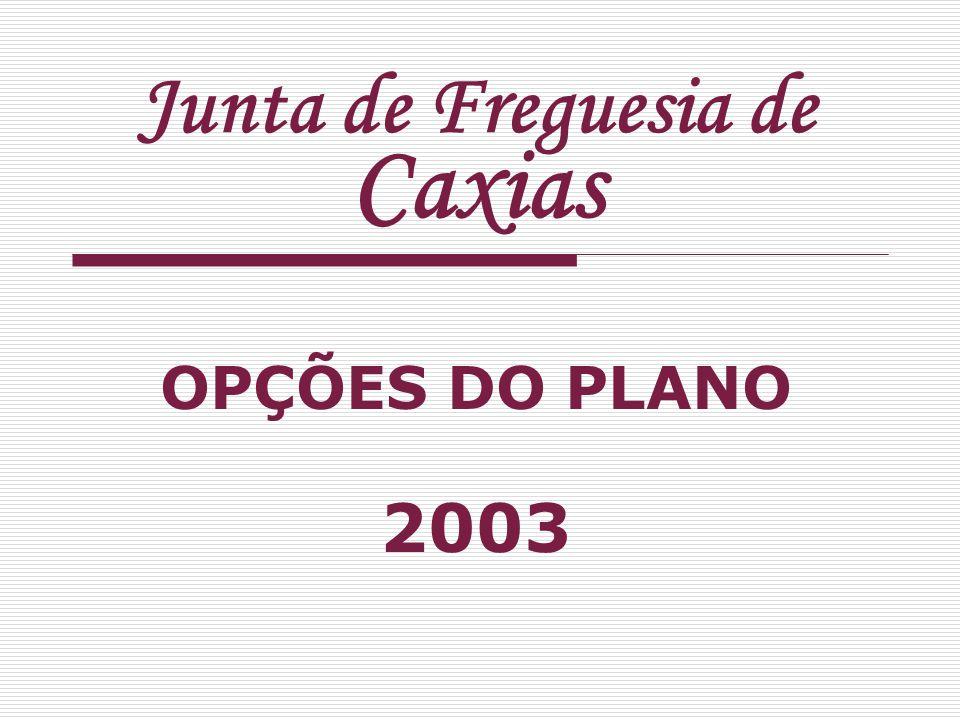 Junta de Freguesia de Caxias OPÇÕES DO PLANO 2003