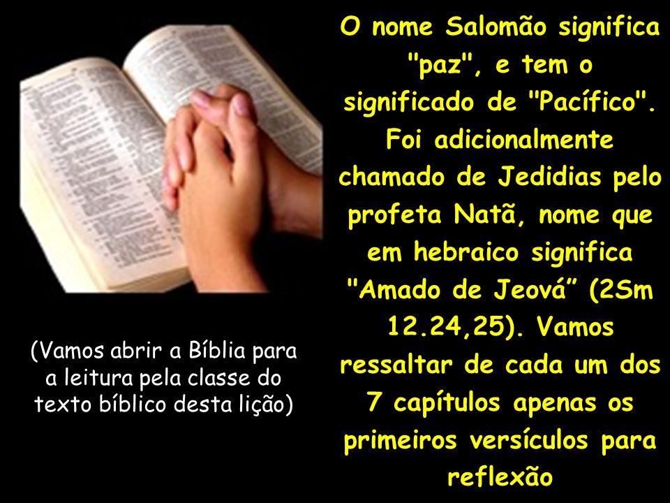 O nome Salomão significa