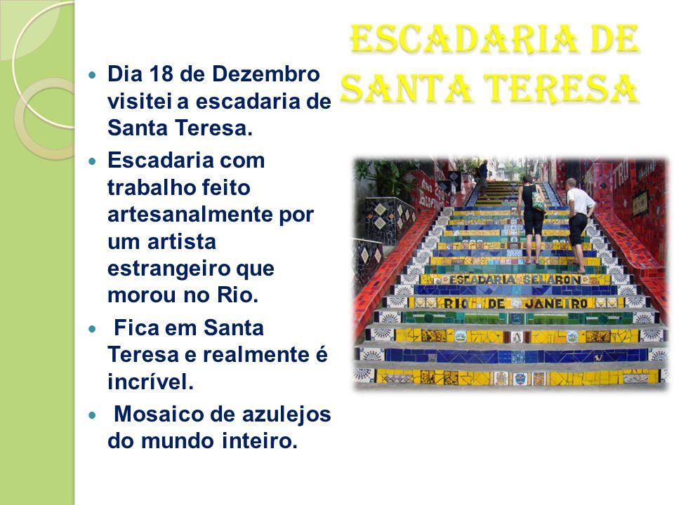 PÃO DE AÇÚCAR • Dia 17 de Dezembro- Pão de Açúcar- a emoção do passeio começa bem antes de se chegar ao topo do morro, a 400 m acima do nível do mar.