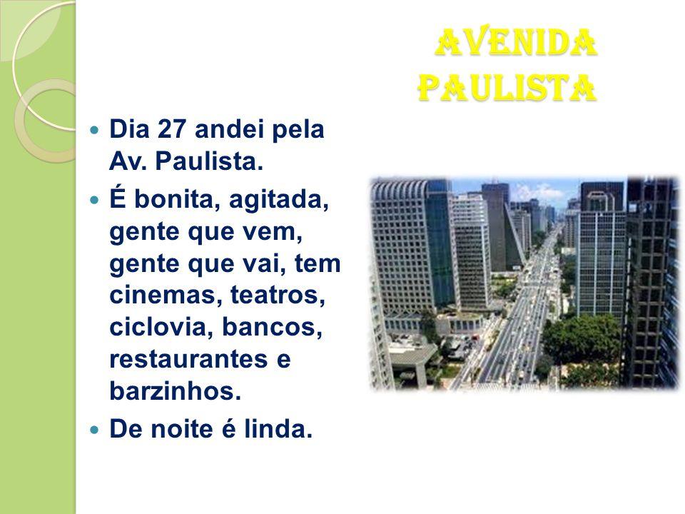 Hotel de São Paulo  Fiquei no Hotel Íbis, situa-se na Av. Paulista, perto da estação de metro Consolação.  Para além de alojamento, temos uma excele