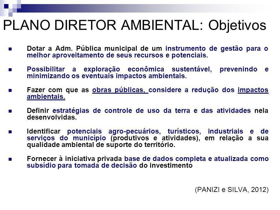  Dotar a Adm. Pública municipal de um instrumento de gestão para o melhor aproveitamento de seus recursos e potenciais.  Possibilitar a exploração e