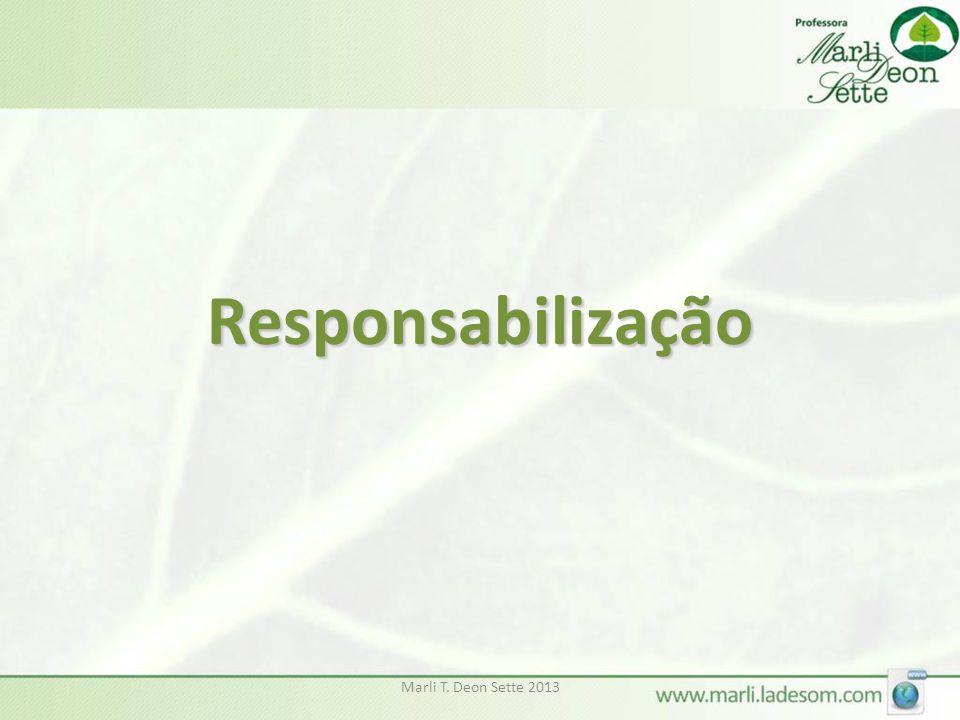 Marli T. Deon Sette 2013 Responsabilização