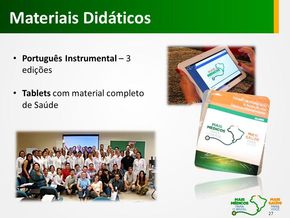 27 • Português Instrumental – 3 edições • Tablets com material completo de Saúde Materiais Didáticos