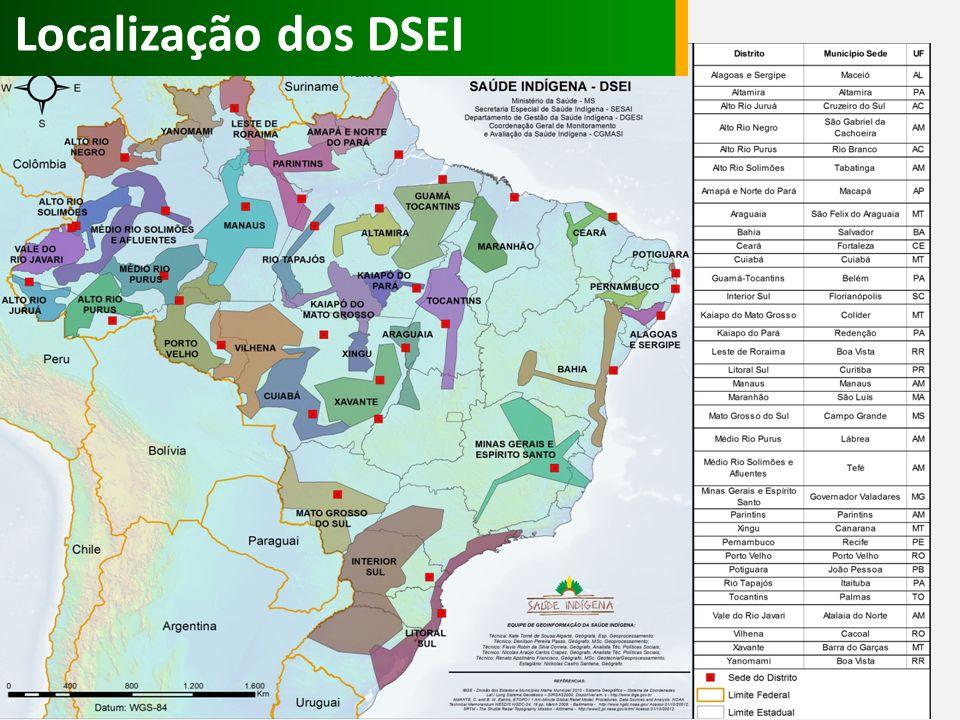 Localização dos DSEI