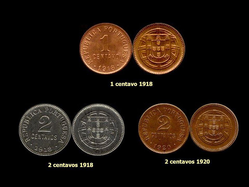As Moedas do Escudo (1 escudo = 100 centavos)