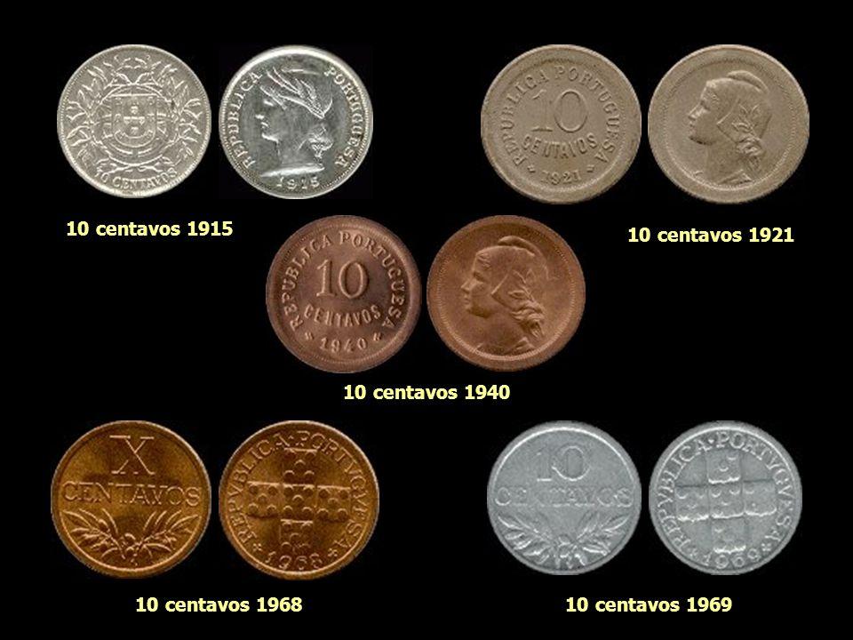 4 centavos 1919 5 centavos 1921 5 centavos 1927