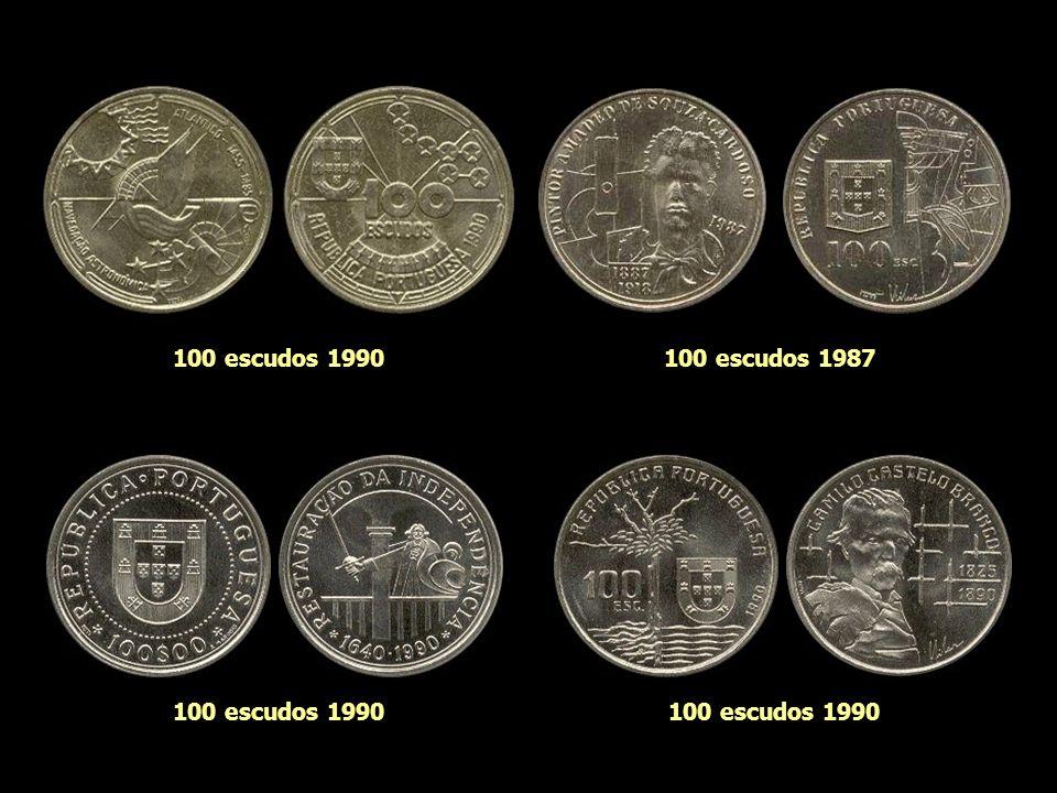 100 escudos 1986 100 escudos 1989
