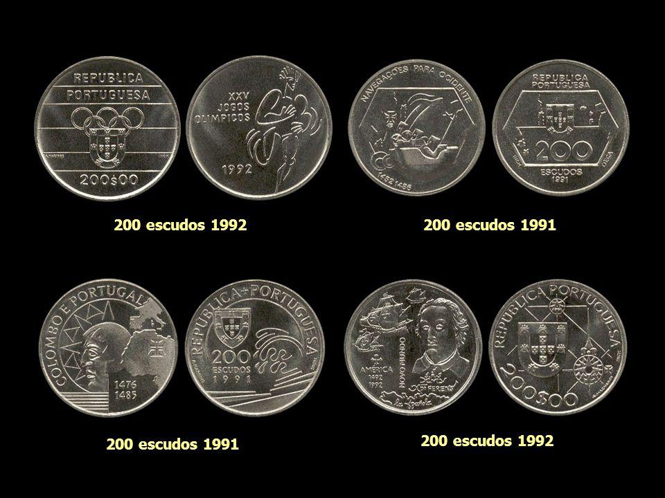 200 escudos 1997 (bimetal) 200 escudos 1999 (bimetal) 200 escudos 1998 (bimetal) 200 escudos 2000 (bimetal)