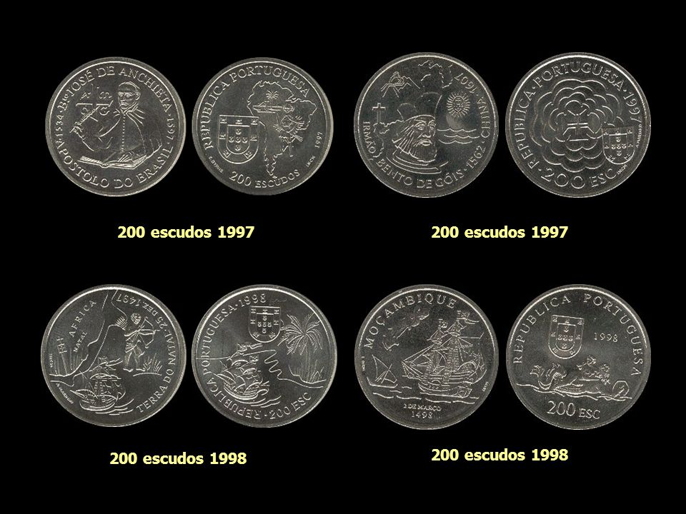200 escudos 1995 200 escudos 1997