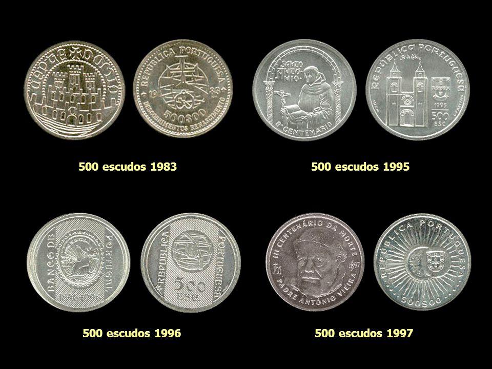 250 escudos 1974250 escudos 1984 250 escudos 1988250 escudos 1989