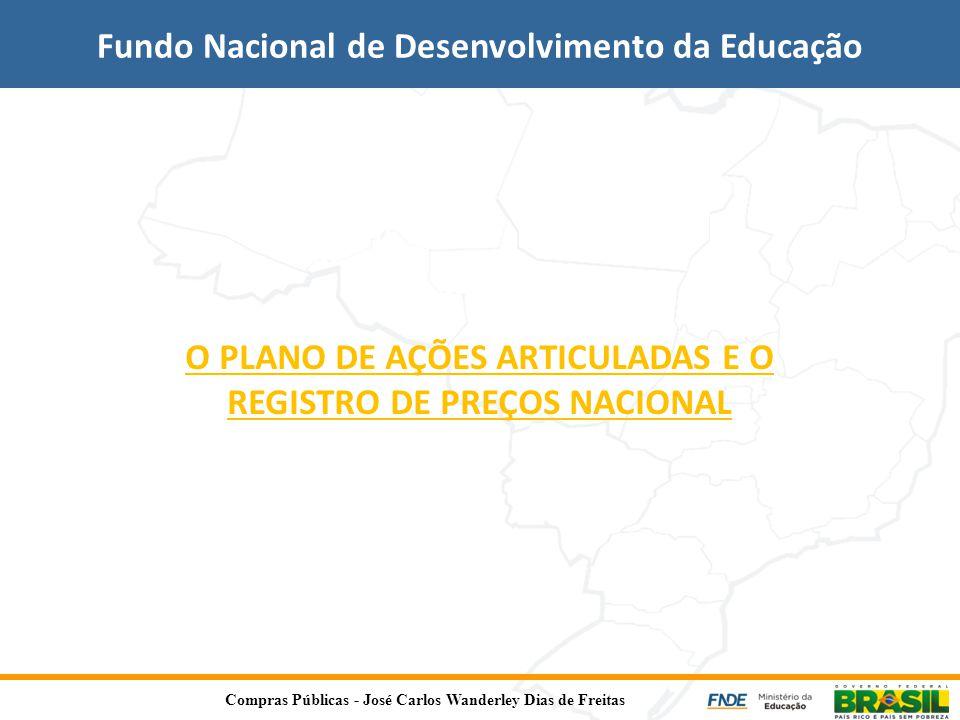 O PLANO DE AÇÕES ARTICULADAS E O REGISTRO DE PREÇOS NACIONAL Fundo Nacional de Desenvolvimento da Educação Compras Públicas - José Carlos Wanderley Di