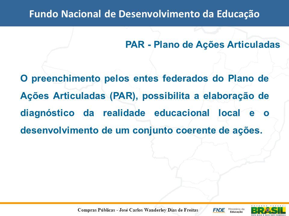 Fundo Nacional de Desenvolvimento da Educação PAR - Plano de Ações Articuladas O preenchimento pelos entes federados do Plano de Ações Articuladas (PA