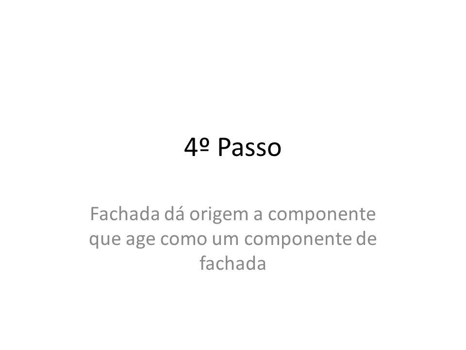 4º Passo Fachada dá origem a componente que age como um componente de fachada