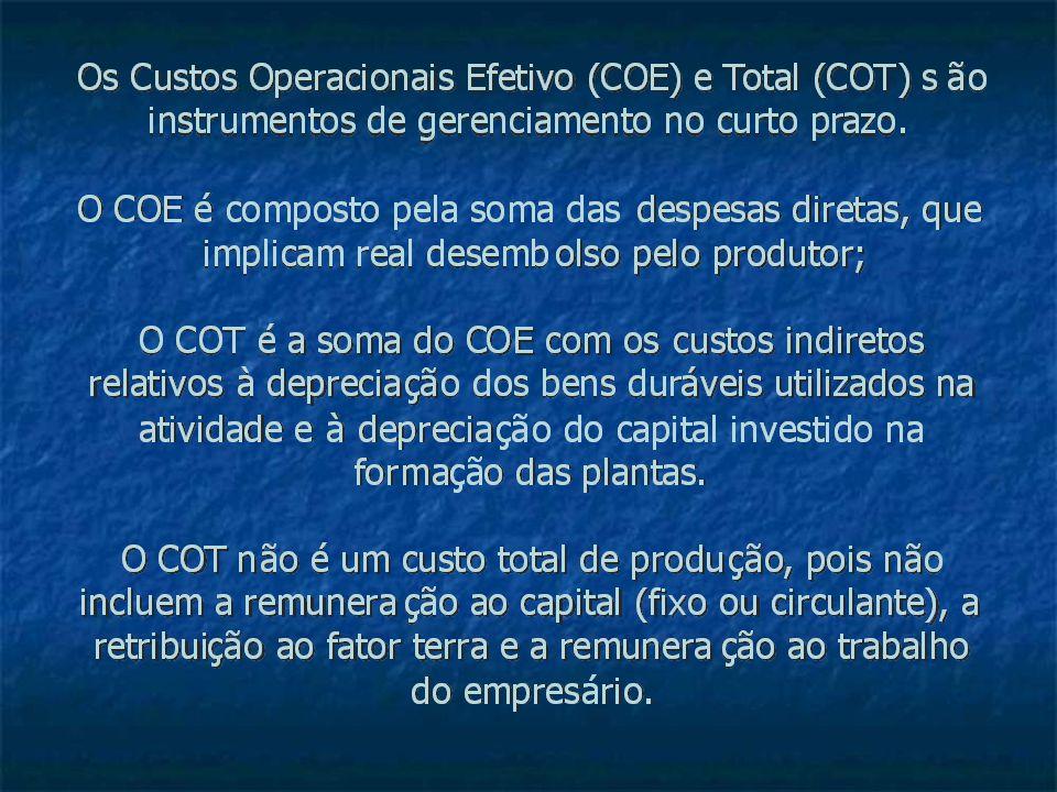 Pre ç os de Fatores de Produ ç ão, para Estimativa de Custo Operacional Total (COT) da Cultura de Seringueira, Estado de São Paulo, 2007.