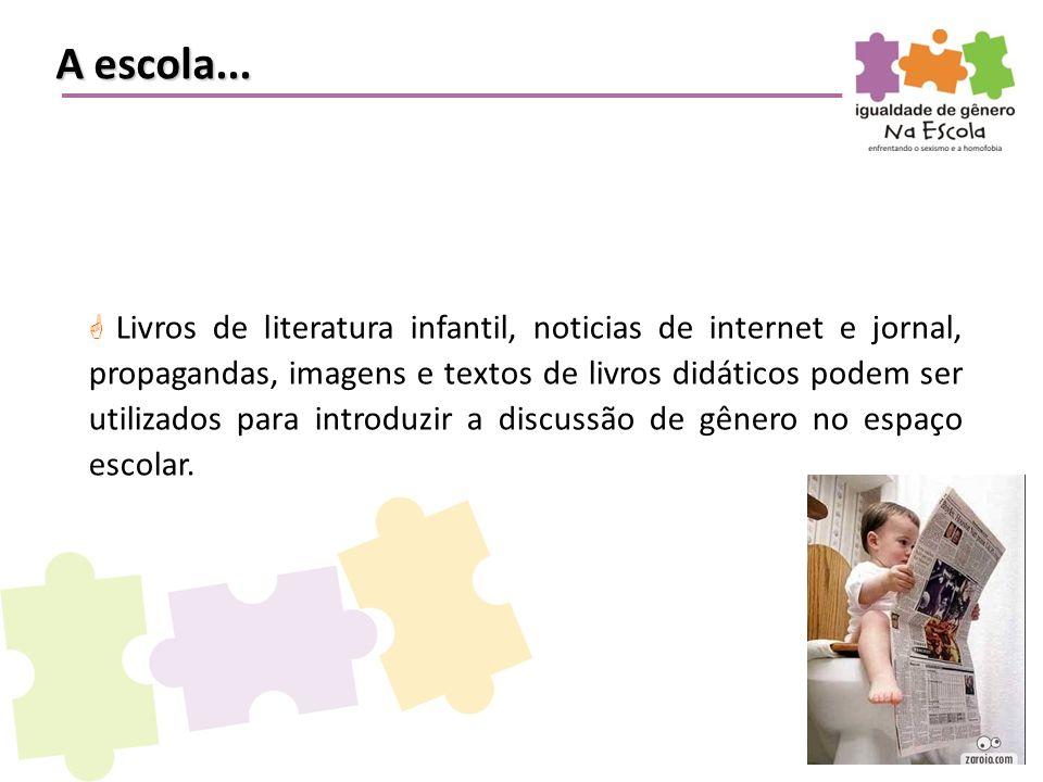  Livros de literatura infantil, noticias de internet e jornal, propagandas, imagens e textos de livros didáticos podem ser utilizados para introduzir