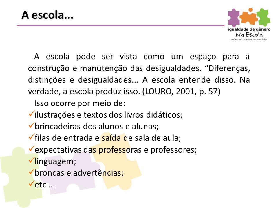 A escola, para que haja aprendizado, interfere nas hipóteses das crianças sobre os conhecimentos matemáticos, científicos e lingüísticos.