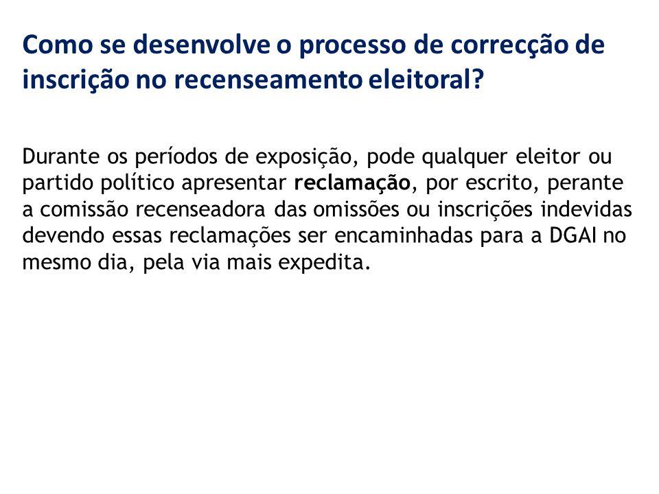 Como se desenvolve o processo de correcção de inscrição no recenseamento eleitoral.