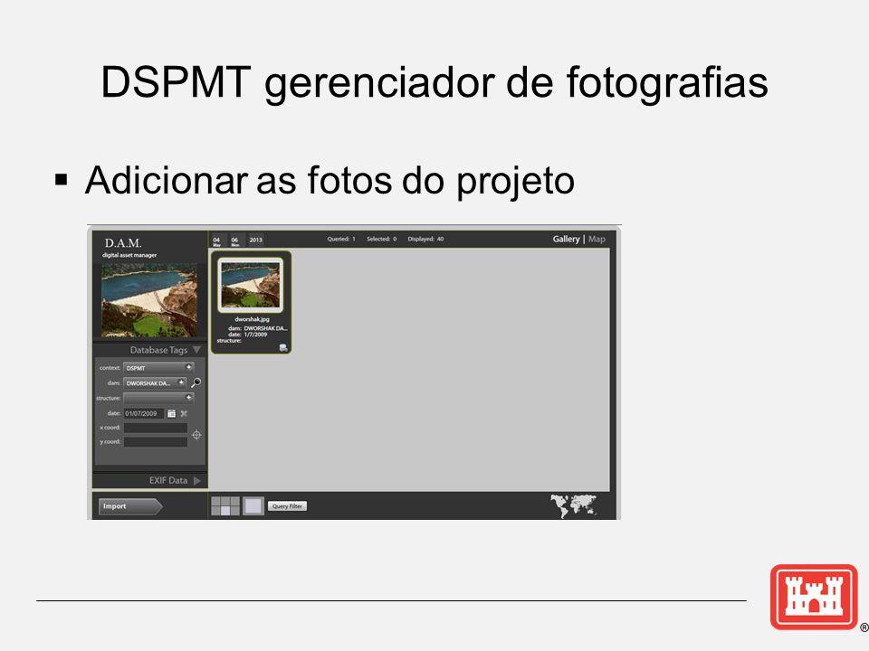 DSPMT gerenciador de fotografias  Adicionar as fotos do projeto