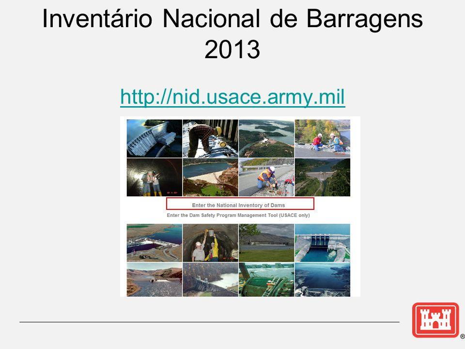 Inventário Nacional de Barragens 2013 http://nid.usace.army.mil