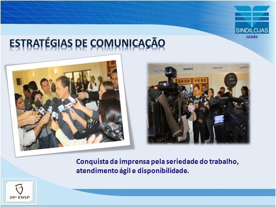 COMUNICAÇÃO COM OS ASSOCIADOS: Site - Mailing – Redes Sociais – Informativo – Momento Sindilojas Rádio CBN Anhanguera – Rádio Sindilojas (em implantação).