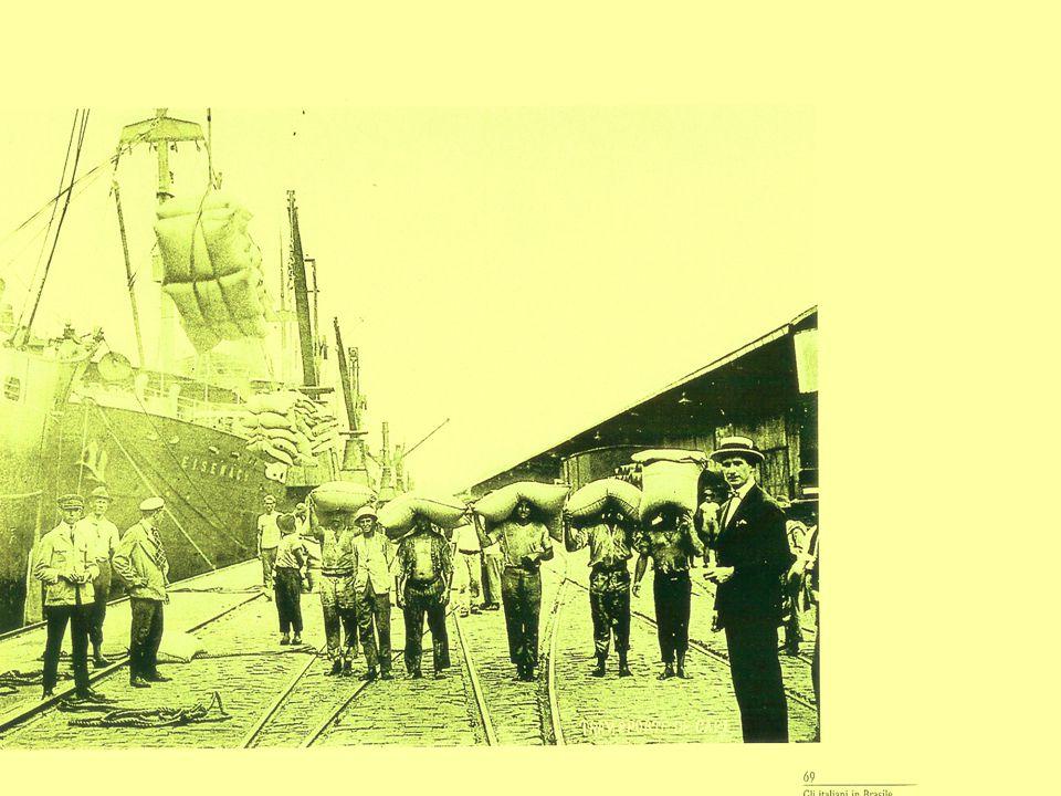 Imigração 4  A década de 1880 foi decisiva para a grande imigração em massa para o Brasil.