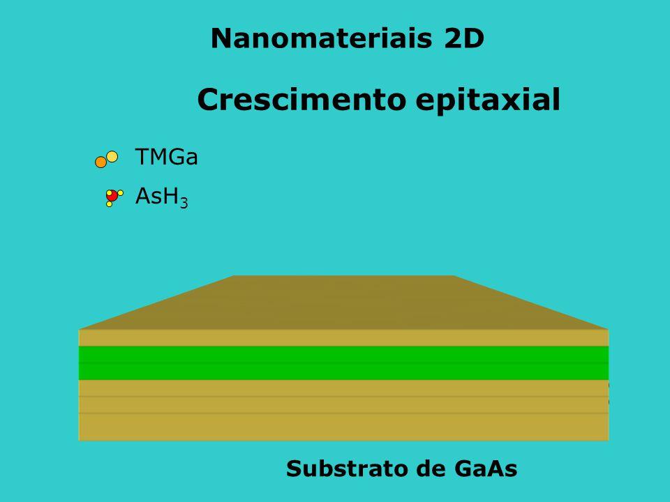 TMGa AsH 3 Crescimento epitaxial Substrato de GaAs Nanomateriais 2D