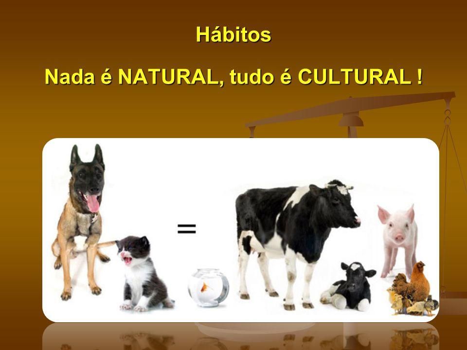 Hábitos Nada é NATURAL, tudo é CULTURAL !