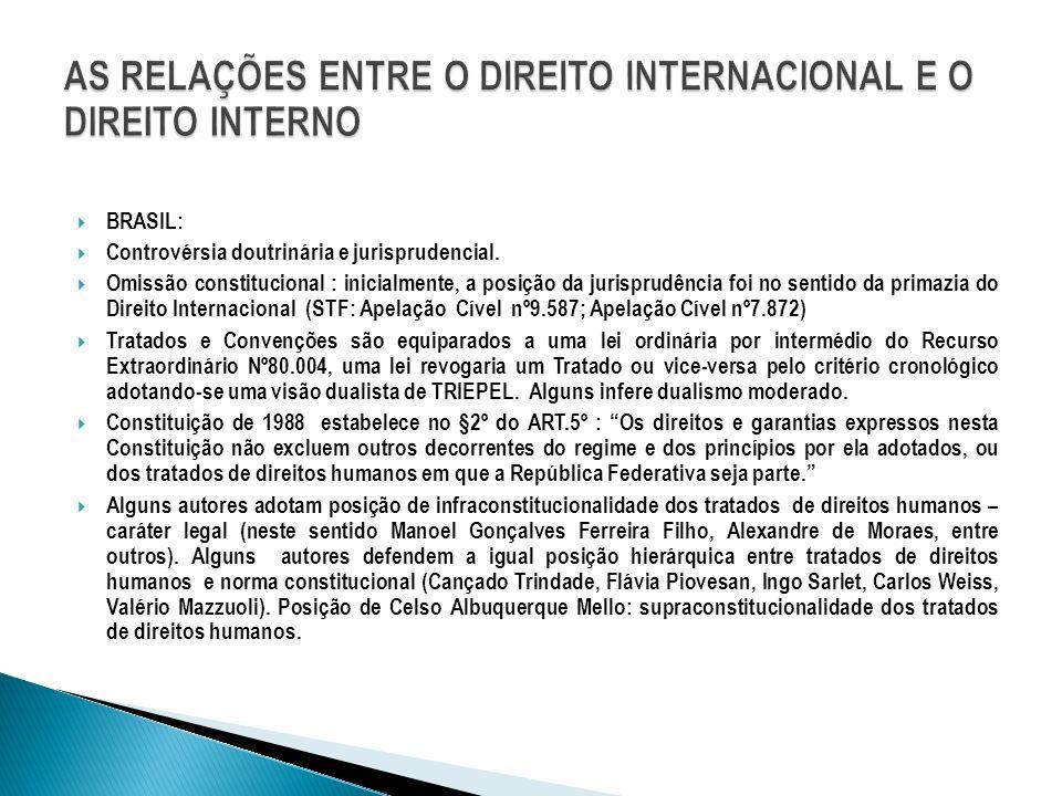  BRASIL:  Controvérsia doutrinária e jurisprudencial.  Omissão constitucional : inicialmente, a posição da jurisprudência foi no sentido da primazi