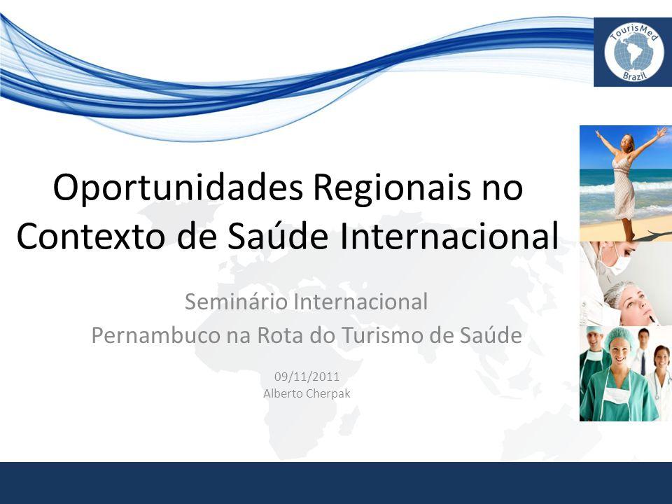 Oportunidades Regionais no Contexto de Saúde Internacional Seminário Internacional Pernambuco na Rota do Turismo de Saúde 09/11/2011 Alberto Cherpak