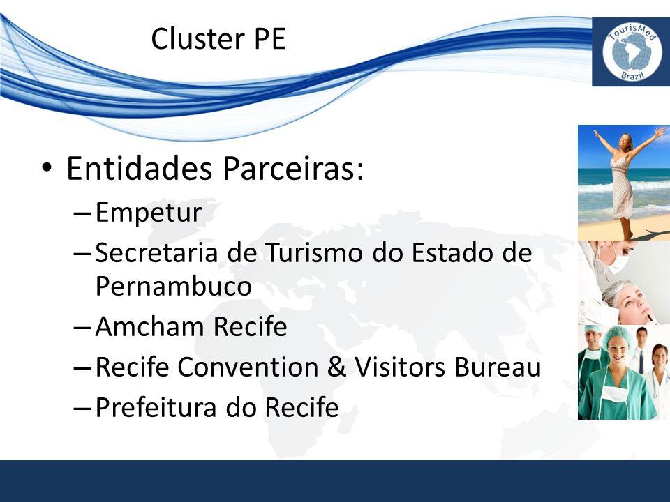 • Entidades Parceiras: – Empetur – Secretaria de Turismo do Estado de Pernambuco – Amcham Recife – Recife Convention & Visitors Bureau – Prefeitura do