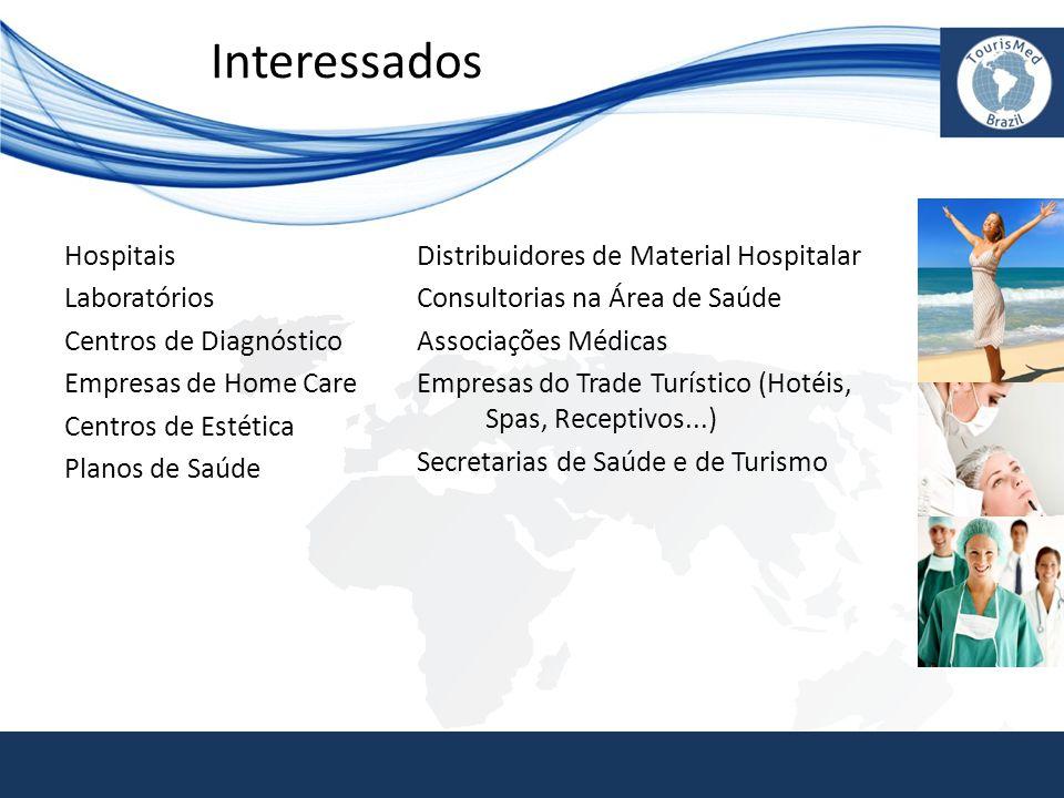 Interessados Hospitais Laboratórios Centros de Diagnóstico Empresas de Home Care Centros de Estética Planos de Saúde Distribuidores de Material Hospit