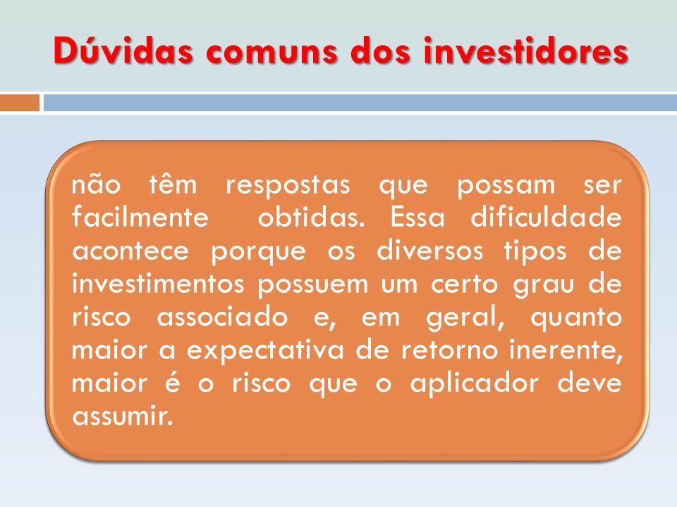 Que deve fazer o investidor financeiro  informar-se a respeito das modalidades de investimentos disponíveis no mercado financeiro.