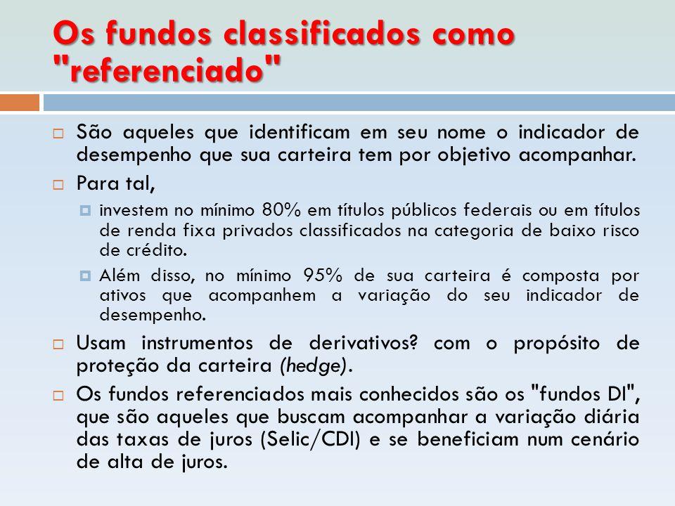 Os fundos classificados como
