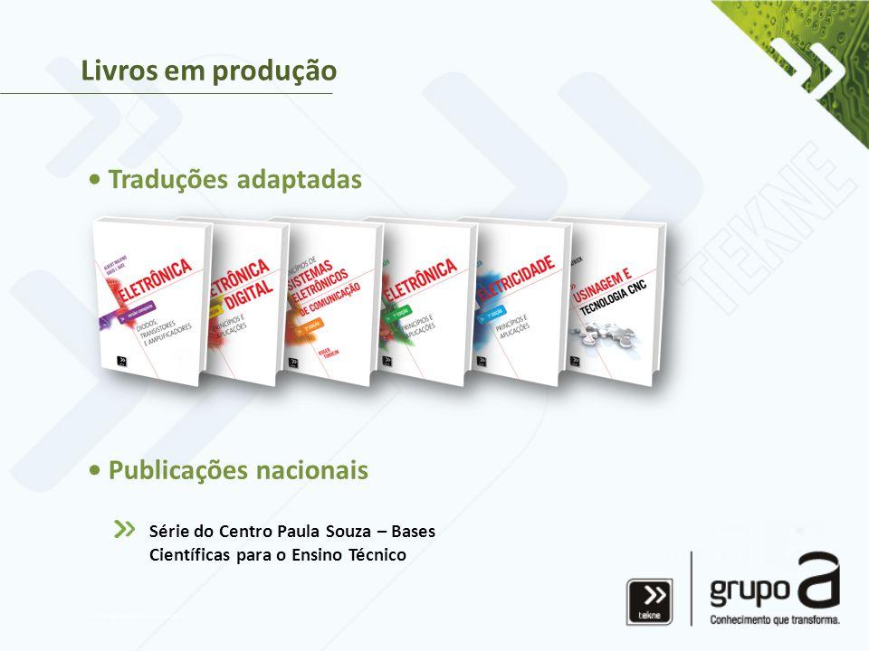 Livros em produção • Traduções adaptadas • Publicações nacionais Série do Centro Paula Souza – Bases Científicas para o Ensino Técnico