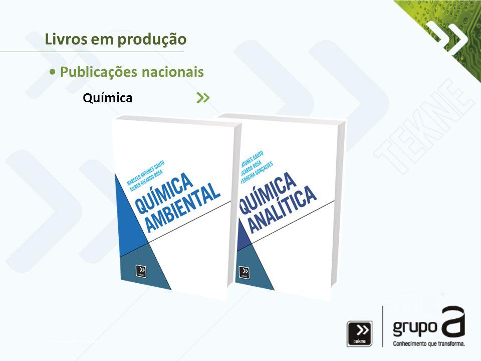 Química Livros em produção • Publicações nacionais