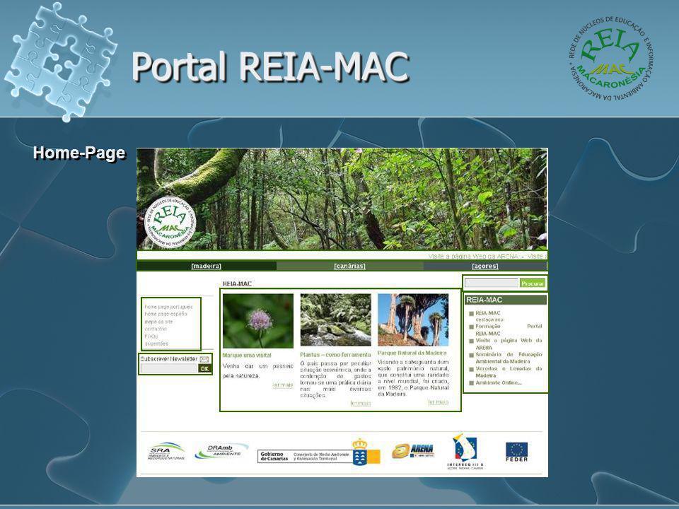 Portal REIA-MAC Home-Page