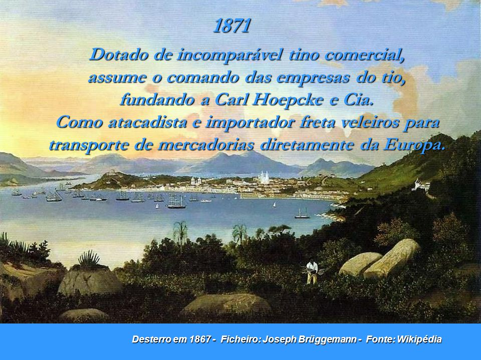 Centro de Florianópolis em 1907.Foto/divulgação: Desconhecido.